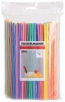 Fackelmann 54546 Trinkhalme Kräftige Farben Knickbar, Länge: 24 cm, 200 Stück