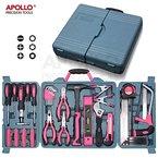 Apollo 71-teiliges Haushalts-Werkzeugset in Pink mit den gebräuchlichsten Handwerkzeugen - in Aufbewahrungsbox