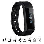 Bluetooth Fitness Tracker, Omorc Sport Armband I5 Plus SmartWatch OLED Uhr Aktivitätstracker smart bracelet mit Schlafmonitor, Schrittzähler, Kalorienzähler, SMS Anrufe Reminder für iPhone Samsung iOS und Android Smartphones - Schwarz