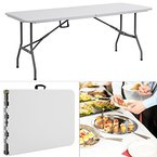 Tisch klappbar Kunststoff weiß 74x180 cm Partytisch Buffettisch Klapptisch