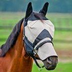 Fliegenmaske m Nasenschutz, Fliegenschutz, Auswahl:Pony