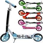 Scooter Girl Power Roller Tretroller Kinderroller Cityroller Kinder 205mm klappbar Umhängegurt