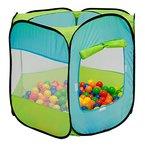 LittleTom Spielzelt Kinderzelt Pop-Up-Zelt ELLIOT | Bällebad Zelt für Drinnen und Draußen | Kinderspielzelt inkl. Aufbewahrungstasche | ohne Bälle