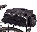 Wasserabweisende BTR-Gepäckträgertasche, Fahrradtasche oder Rahmentasche, schwarz