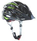 AWE® AeroliteTM Herren Fahrradhelm, schwarz/Green, Größe 58-61 cm