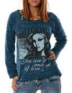 Damen Pullover (weitere Farben) No 13402, Farbe:Türkis;Größe:One Size