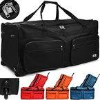 Reisetasche mit Trolleyfunktion 85L in Hellblau Sporttasche Reisetrolley