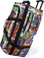 XXL Reisetasche design Dream Violett Rollenreisetasche Trolley Sport Freizeit mit Rollen Farbe Picasso