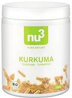 nu3 Premium Bio Kurkuma (Curcuma) mit Piperin, hoch-dosiert in veganen Kapseln; 200 Stück - enthält natürliches Curcumin und Piperin aus schwarzem Pfeffer-Extrakt