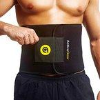ActiveGear Fitnessgürtel Bauchgürtel zur Fettverbrennung - Taillentrimmer für Männer und Frauen - Schwitzgürtel zum abnehmen (Gelb Mittel 20cm x 122cm)