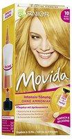 Garnier Tönung Movida Pflege-Creme / Intensiv-Tönung Haarfarbe 10 Goldblond (für leuchtende Farben, auch für graues Haar, ohne Ammoniak) 3er Pack Haarcoloration-Set
