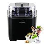 Aicok Eiscrememaschine,Joghurt undSorbetFrierenMaschine, 1.5L mit TimerFunktion, Schwarze