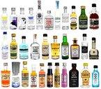Spirituosen Miniaturen XXL Probierset - 32 verschiedene Flaschen Gin / Vodka / Rum / Whiskey / Tequila