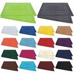 Badvorleger / Badematten / Badteppich - 2er Pack - Baumwolle 800g/m² - 50x80 cm - Farbe Rot