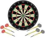 Dartboard 45cm + 2 Sets Pfeile 22g Steelspider Sisal