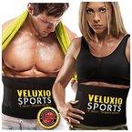 Veluxio Fitnessgürtel Bauch für Männer und Frauen Slimmer Belt