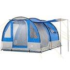 CampFeuer - Tunnelzelt, blau/grau, 4 Personen, Campingzelt