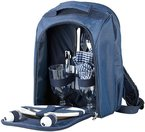 Xcase Thermo-Picknick-Rucksack mit Kühlfach, bestückt für 2 Personen