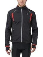 Ultrasport Herren Running-/Bikingjacke Stretch Delight, Schwarz/Rot, L, 40022