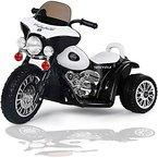 Kinder Elektro Polizei Motorrad Harley Kindermotorrad Akku Elektromotorrad Schwarz