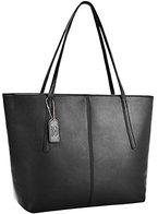 Coofit Damen Handtasche Schultertasche Shopper Taschen Umhängetasche, black (schwarz), 35x32x14cm