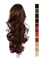 Prettyland - DH254 60cm Klammer gewellt Pferdeschwanz Zopf Haarverlängerung Haarteil- 12B helles Goldbraun