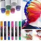 Haarkreide, mit 6 Farben für den Heimgebrauch, Haarentfärber, ungiftig, auswaschbar, Pastellfarben, temporäre Haarfarbe, Soft Pastel Haar Kreide Haar Farbe, Haar Colorationen Tönungen