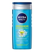Nivea Men Power Refresh Pflegedusche, Duschgel, 4er Pack 4 x 250 ml
