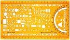 Schablone Zeichenschablone Technisches Zeichnen - Elektro Symbole Elektrotechnik und Elektronik Elektriker Hausinstallation Schaltzeichen