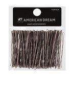 AMERICAN DREAM Pack of 100 x Haarnadeln - braun - gewellt - 2.5 inch / 6.35 cm Länge, 1er Pack (1 x 124 g)