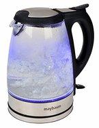 Maybaum Design-Glaswasserkocher mit blauer LED-Innenbeleuchtung, 1,7 Liter, Kraftvolle 2200 Watt