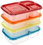 AmazonBasics Bento-Lunchboxen, 4er-Set