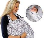 Mture Stillschal Stilltuch Nursing Cover, Top-Qualität aus 100% Baumwolle Stillen Abdeckung - Bequemes und diskretes Stillen in der Öffentlichkeit! Ideales Geburtsgeschenk für Baby und Mama