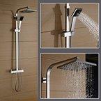 Auralum® Messing Edelstahl Brausethermostat Elegant Duschpaneel Duscharmatur Duschsystem Kopfbrause Thermostat mit Handbrause