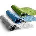 casa pura® Wanneneinlage Astrid | rutschfest | geriffelte Oberfläche | PVC-frei | Lochung für optimalen Wasserabfluss | 34 x 76 cm | drei Farben (hellblau)