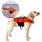 Poppypet Hundeschwimmweste Doggy Aqua-Top Schwimmweste Schwimmtraining für Hunde Orange L