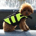HOOPET® Hund Warnweste Hundeschwimmhilfe Reflektoren Hundeschwimmweste Grün S