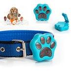 Boblov Haustier Tracker RF-V30 Wasserdicht Anti-verloren GPS Verfolger Wifi Sicherheit Alarm LEDs blinken Collar für Tieren Katze Hund (Blau)