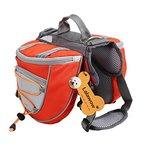 """Lalawow Hunderucksack Camping Wandern Rucksack Breath Einstellbar Sattel Tasche Rucksack für Medium und Large Dog (M - Chest 27.56-31.89"""", Orange)"""