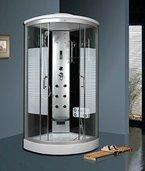 Luxus4Home Arielle LED Duschkabine 100 x 100 cm Komplettdusche mit Massagefunktion Armaturen Sicherheitsglas (ESG) Dusche