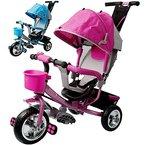 Dreirad aus Metall mit abnehmbarer Schubstange Sonnendach Kinderdreirad Schiebestange Free Angel ® Pink