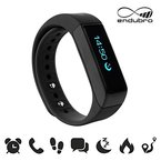 endubro i5 plus Fitness Armband - fitness tracker - smart bracelet - Smartwatch für Android Smartphone und iPhone, Schrittzähler, Push-Message und Anrufer - ID Benachrichtigung (Schwarz)