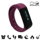 endubro i5 plus Fitness Armband - fitness tracker - smart bracelet - Smartwatch für Android Smartphone und iPhone, Schrittzähler, Push-Message und Anrufer - ID Benachrichtigung (Rosa)