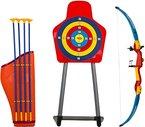 Kinder Spielzeug Pfeil & Bogen & Bogenhalter Set mit Zielscheibe im Freien Spaßspiel