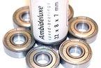 Ambideluxe ABEC-7 Kugellager - Speed Bearings 8x 608 ZZ - Qualitäts- Kugellager für Inliner Skateboard Longboard Waveboard die Besten kaufen online Shop Qualitätsprodukt