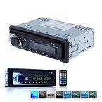 Zetong Autoradio mit Bluetooth Freisprecheinrichtung und Abspielfunktion für Smartphone,Handy,MP3-Player,USB Anschluss und SD Kartenslot,4x 60Watt,Aux-Eingang,1DIN