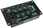 Pronomic DX-26 USB DJ-Mixer (eingebauter USB-MP3-Player, 3-Kanäle, Mikrofonanschluss, robust, mit Cinch-Kabel)