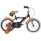 16 Zoll Hi5Rebel Kinderfahrrad mit Rücktritt für Kinder ab ca. 4 Jahren Fahrrad Stützräder, Farbe:Schwarz / Orange