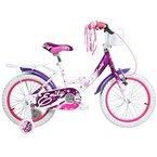 16 Zoll Hi5Emily Kinderfahrrad mit Rücktritt für Mädchen ab 4 Jahren Fahrrad Stützräder, Farbe:weiss/lila