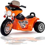 Kinder Elektro Polizei Motorrad Harley Kindermotorrad Akku Elektromotorrad Orange